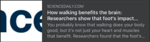 Walking benefits…