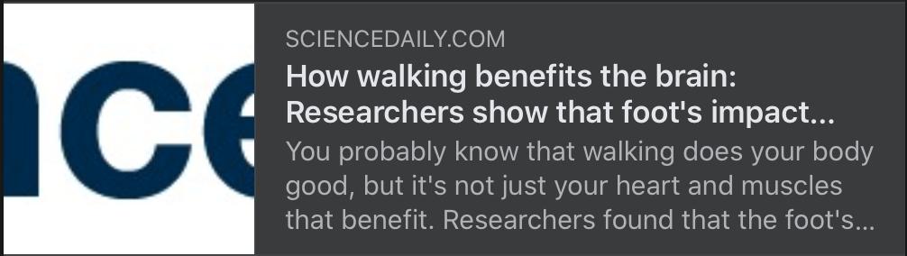Walking benefits…