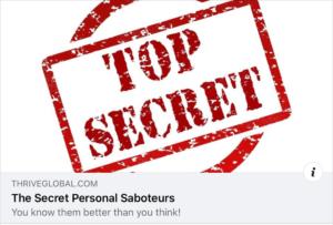 Do you repeatedly self sabotage?