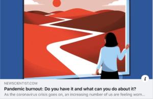 Pandemic burnout…?