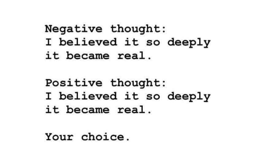 Negative vs Positive